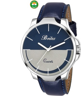 Britex BT7022 Free size ~Mulitcolor Dial~ Leather strap analog Watch  - For Men