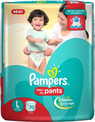 Pampers Light & Dry Pants Baby L Diapers (20 Pieces)