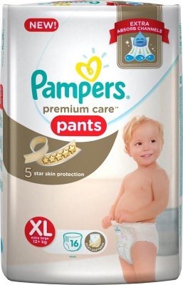 Pampers Premium Care Pants Diapers, XL 16 Pieces