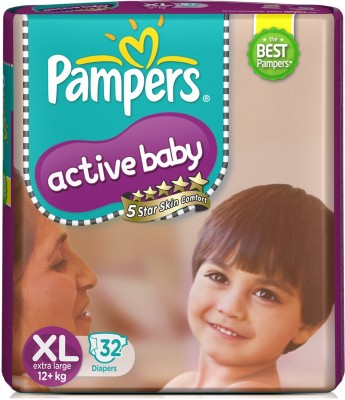 Pampers Active XL Diapers (32 Pieces)