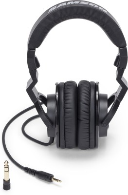 Samson Z25 - Closed Back Studio Headphones Wired Headset without Mic(Black, Wireless over the head)