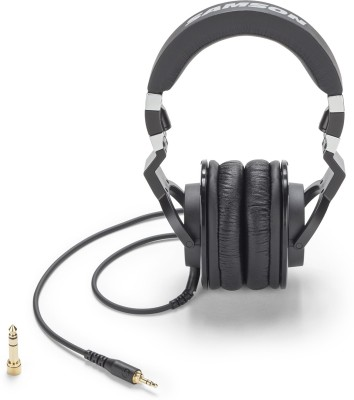 Samson Z55 Closed Back Pro Studio Reference Headphones Wired Headset without Mic(Black, Wireless over the head)