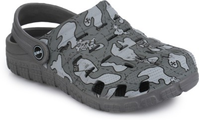 PHEDARUS Boys Sling Back Clogs(Grey)