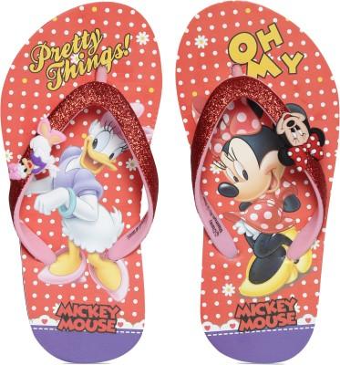 Minnie Girls Slip On Slipper Flip Flop(Red) at flipkart