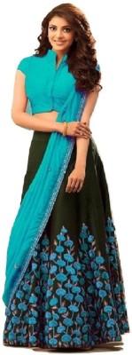 8fd5960bd0 Mert India Embroidered Semi Stitched Lehenga, Choli and Dupatta Set(Blue)