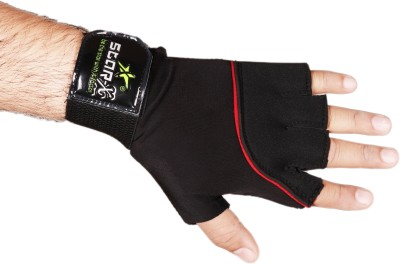 Star X extra soft Neoprene with lycra Gym & Fitness Gloves (Free Size, Black)