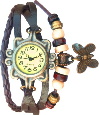 SPINOZA rakhi collation butterfly brown leather belt attractive women Analog Watch   For Girls SPINOZA Wrist Watches