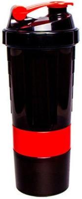 Worthy Shoppee Red Protein Shaker Bottle For Gym 500 ml Shaker, Sipper, Bottle(Pack of 1, Red)  available at flipkart for Rs.249