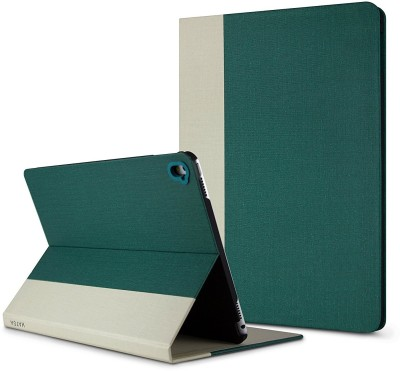 HATGA CASE Front & Back Case for Apple iPad 9.7 inch(Green, Beige, Cases with Holder)