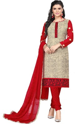 Fashion Ritmo Cotton Embroidered Salwar Suit Dupatta Material(Un-stitched)