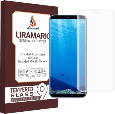 LIRAMARK Edge To Edge Tempered Glass for Samsung Galaxy S8 ( 5D )( Clear / Transparent )(Pack of 1)