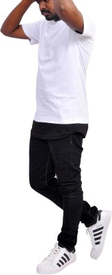 scopux Solid Men Round Neck Black T-Shirt