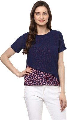 Uptownie Lite Casual Short Sleeve Floral Print Women