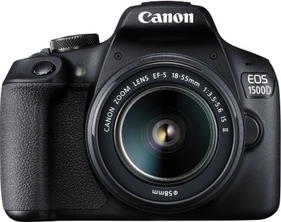 Canon EOS 1500D DSLR Camera Single Kit with 18-55 lens (16 GB Memory Card & Carry Case)(Black)