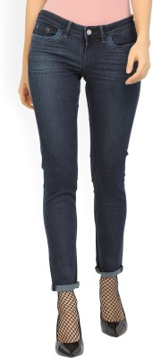 Lee Slim Women Dark Blue Jeans