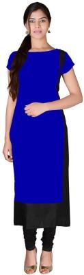 PAVITRA Women Solid Straight Kurta(Blue)
