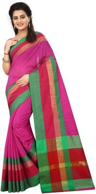 cbdc4fd2cf802 Aquiliq Self Design Bollywood Cotton Saree(Pink)