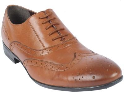 Salt N Pepper Koop Almond Lace Up Shoes For Men(Tan) at flipkart
