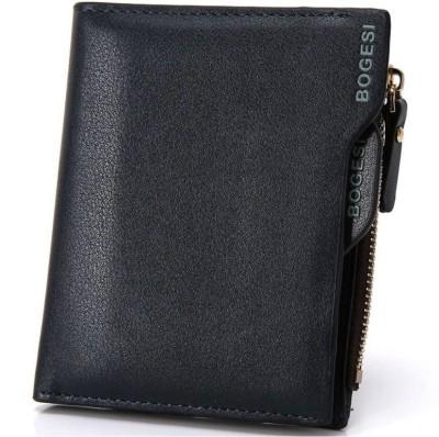 Bogesi Men Blue Artificial Leather Wallet 7 Card Slots
