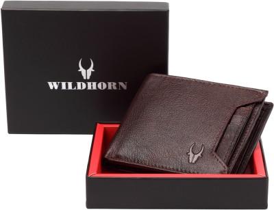 WildHorn Men Brown Genuine Leather Wallet(5 Card Slots)