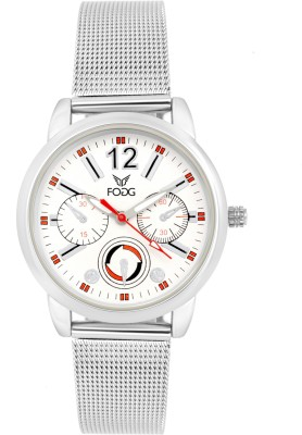 Fogg 4025-WH Analog White Chrono Dummy Dial Women's Watch (4025-WH)