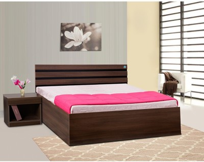 Delite Kom Cocoa Engineered Wood Queen Bed With Storage(Finish Color -  Black & Acacia Dark Matt Finish)