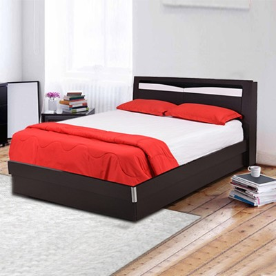 RoyalOak Barcelona Engineered Wood Queen Bed With Storage(Finish Color -  Black,White)