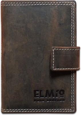 EL Mio EL Mio Brand New Stylish, Classic & Royal 100% Pure & Natural Genuine Vintage Dark Brown Leather Unisex Trendy Rustic Modern 3+ 15 Card Holder(Set of 1, Brown)