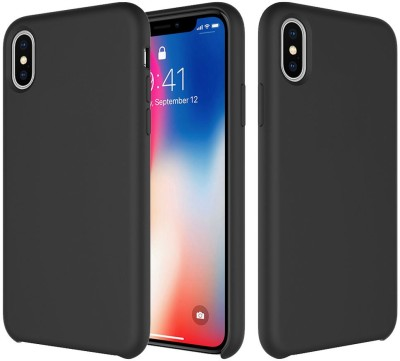Crust Back Cover for Apple iPhone X(Black, Shock Proof)