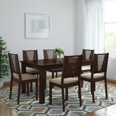 Induscraft Ethina Sheesham Solid Wood 4 Seater Dining Set(Finish Color - Brown)