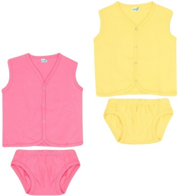 Dongli Baby Boys & Baby Girls Casual T-shirt Panty(Multicolor)