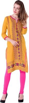 Gujari Women Printed Straight Kurta(Multicolor)