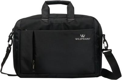 WILDMOUNT 16 inch Laptop Messenger Bag Black WILDMOUNT Laptop Bags