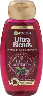 Garnier New Ultra Blends Heena & Blackberry, Nourshing Shine Shampoo(360 ml)