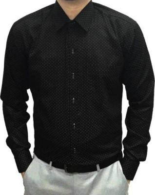 Sunshiny Men's Polka Print Casual Slim Shirt