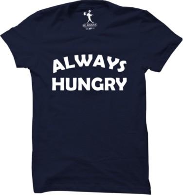 Be Awara Graphic Print Men Round Neck Blue T-Shirt