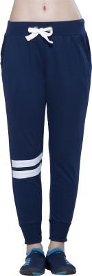 Alan Jones Solid Women Dark Blue Track Pants