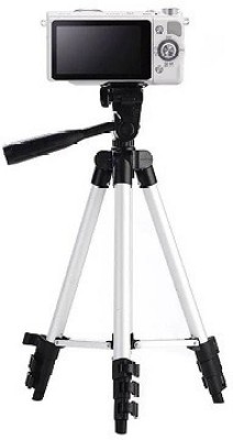 techdeal 3110 3-way head rotation adjustable aluminium (Silver, Supports Up to 1500 g) Tripod(Silver, Supports Up to 1500 g) 1