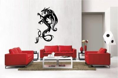 Fantaboy Newclew Dragon Vinyl Wall Decal/Sticker (60cm X 90cm)(70 cm X cm 50, Black)