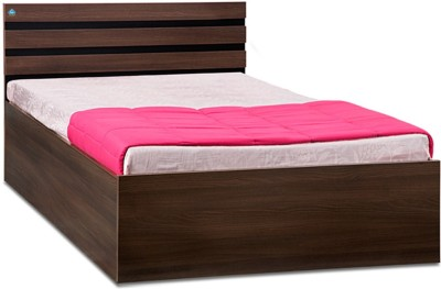 Delite Kom Cocoa Engineered Wood Single Bed With Storage(Finish Color -  Black & Acacia Dark Matt Finish)