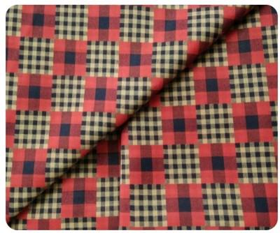 John Phillipe Cotton Checkered Shirt Fabric(Un-stitched)
