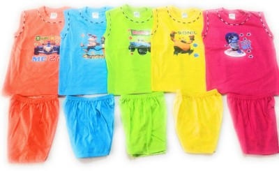 NewJainTraders Baby Boys & Baby Girls Casual T-shirt Shorts(Multicolor)