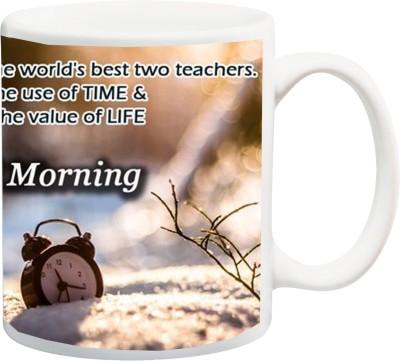 ME&YOU Motivational Inspirational Quotes (IZ17-VK-MU-0607) Good Morning Printed Ceramic Mug(325 ml)