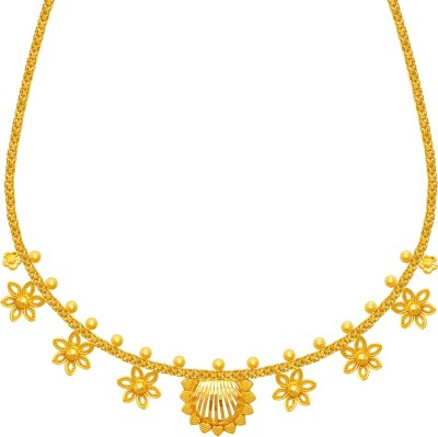 PC Chandra Jewellers N 28553 Choker Yellow Gold Precious Necklace 22kt PC Chandra Jewellers Necklaces