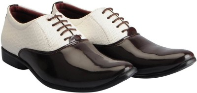 VERNARDO OXFORD SHOES Party Wear For Men(Brown)
