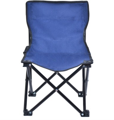 Random Foldable Blue Stool With Back Rest For Travelling, Camping, Car, Lawn and Home by Random® Living & Bedroom Stool(Blue)