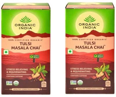 Organic India Antioxident rich Tulsi Masala Tea Bags Box(25 Bags)