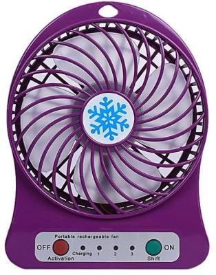 CRETO latest model high speed portable rechargeable IR11 USB Fan(Purple)