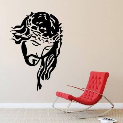 Fantaboy Jesus Black And White Wall Decal/Sticker (60cm X 70cm)(70 cm X cm 50, Black)