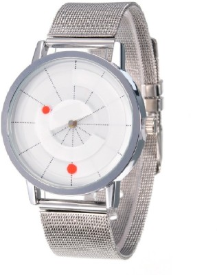 GT Gala Time Unique Rotating White Dial Design Watch  - For Men & Women